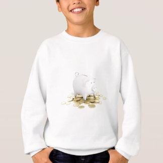 Piggy bank and coins sweatshirt