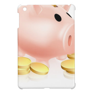 Piggy bank and gold coins iPad mini cases