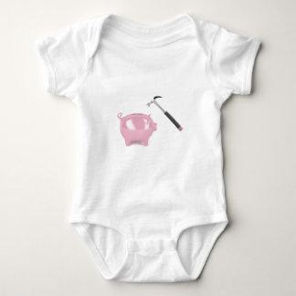Piggy bank and hammer baby bodysuit