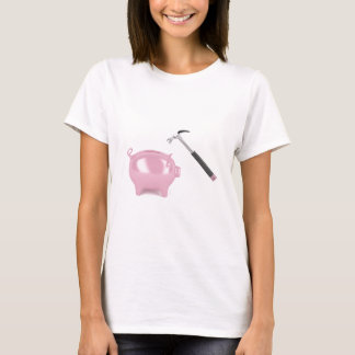 Piggy bank and hammer T-Shirt