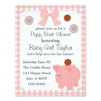 Piggy Bank Baby Shower Card