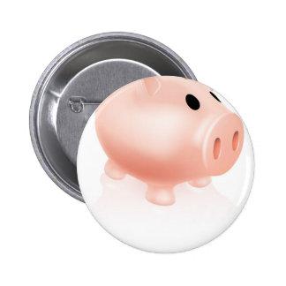Piggy bank pinback button