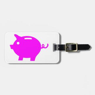 Piggy Bank Bag Tags