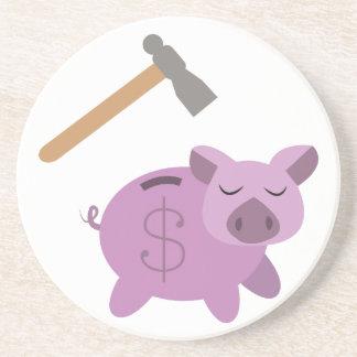 Piggy Bank Beverage Coaster