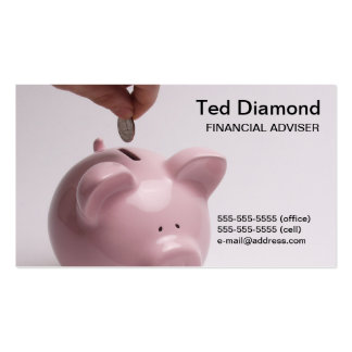 Piggy Bank Bront & Back Business Cards
