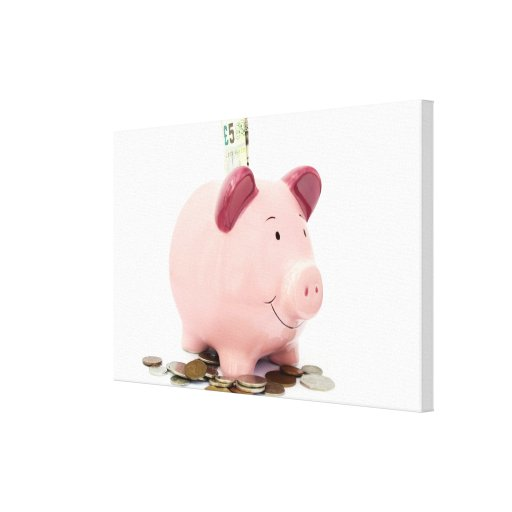 Piggy bank gallery wrapped canvas