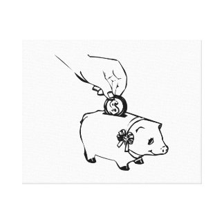 Piggy Bank Stretched Canvas Prints