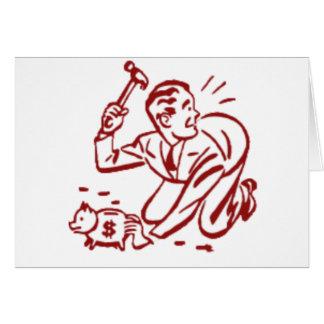 piggy bank card