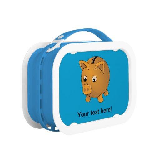Piggy-bank cartoon lunch box