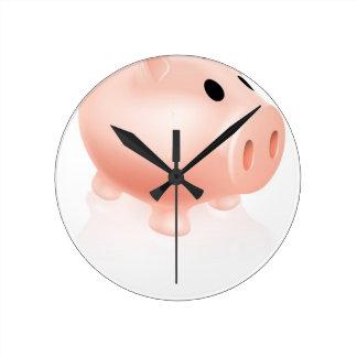 Piggy bank wall clocks