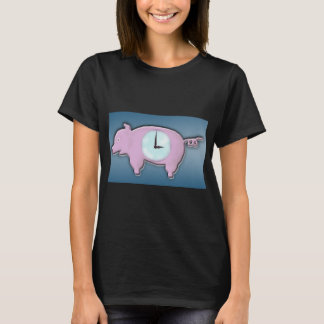 Piggy Bank Clock - T-Shirt