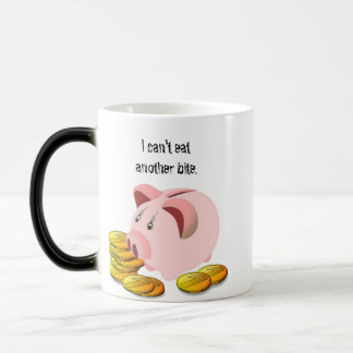 Piggy Bank Coin Slot Top Magic Mug