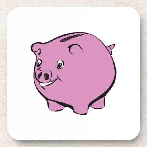 Piggy Bank Beverage Coasters