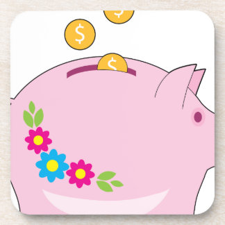 Piggy Bank Drink Coaster