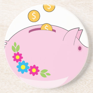 Piggy Bank Drink Coasters