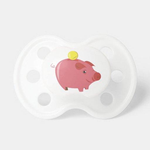 Piggy Bank Pacifiers