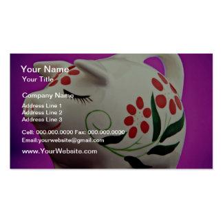 Piggy bank  flowers business card
