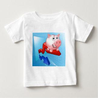 Piggy Bank Graph Concept Baby T-Shirt