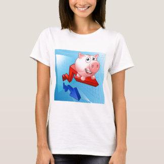 Piggy Bank Graph Concept T-Shirt