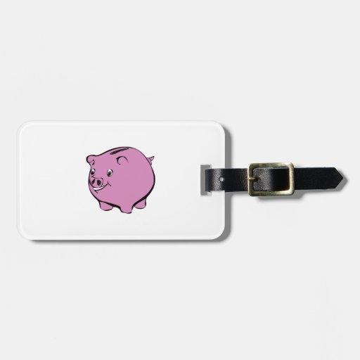 Piggy Bank Travel Bag Tag