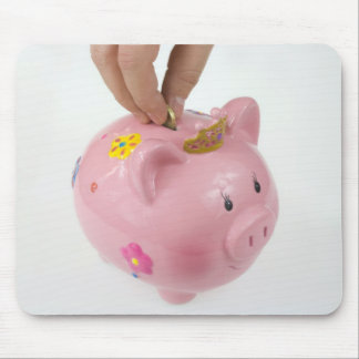 Piggy bank mouse pad