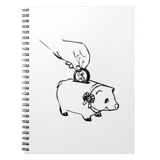 Piggy Bank Spiral Notebooks