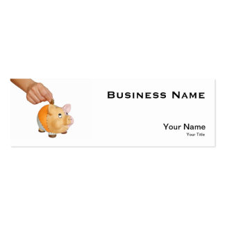 piggy bank pack of skinny business cards