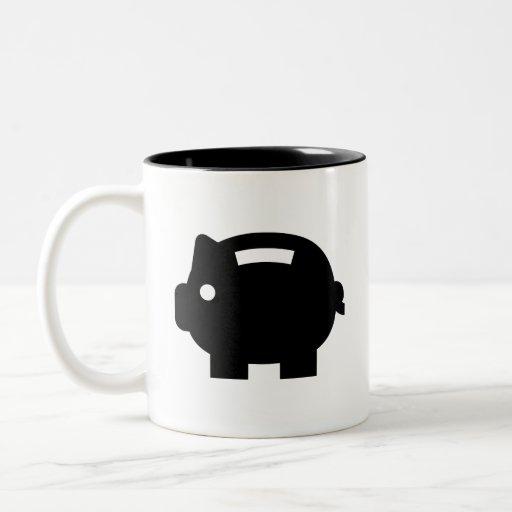 Piggy Bank Pictogram Mug