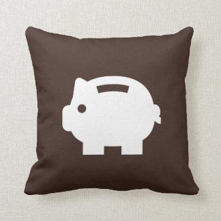 Piggy Bank Pictogram Throw Pillow Cushions