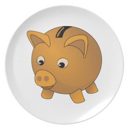Piggy Bank Party Plates