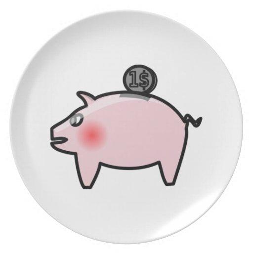 Piggy Bank Plate
