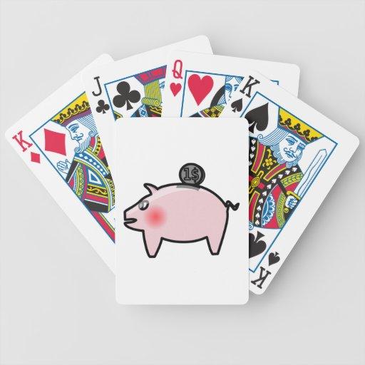 Piggy Bank Bicycle Poker Deck