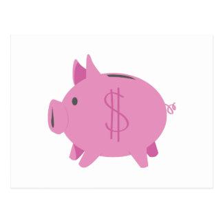 Piggy Bank Postcard