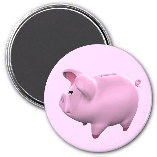 Piggy Bank Toon Magnet