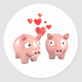Piggy Banks In Love Stickers