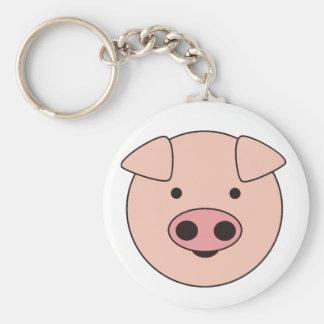 piggy basic round button key ring