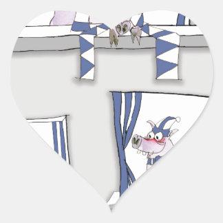 piggy blues forever heart sticker