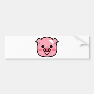 Piggy Bumper Sticker