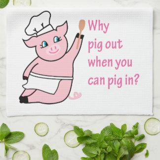 Piggy Chef Towels