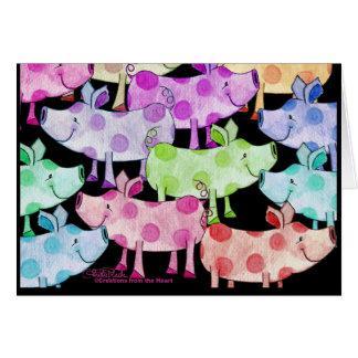 Piggy Collage Card