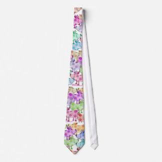 Piggy Collage Tie