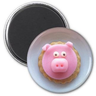 piggy cookie 6 cm round magnet