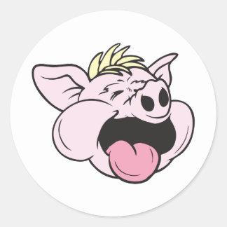 Piggy!  Customizable! Classic Round Sticker