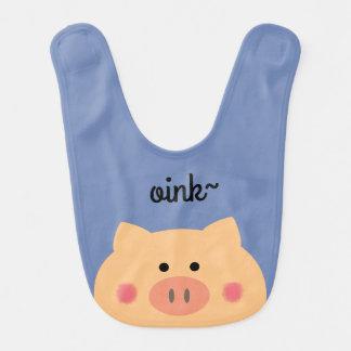 Piggy Face Baby Bibs