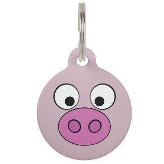 Piggy Face Pet Tag