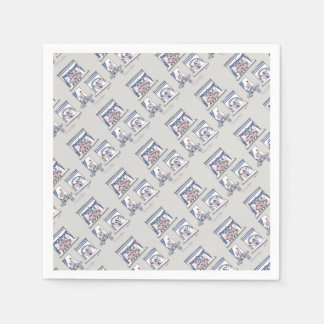 piggy forever blue paper serviettes