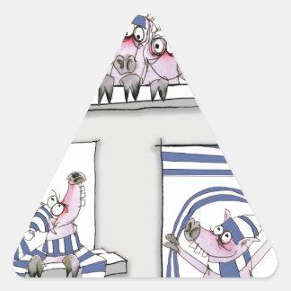 piggy forever blue triangle sticker