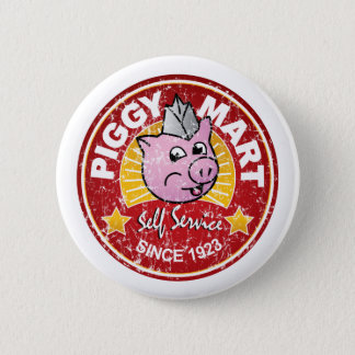 Piggy Mart Vintage Grocery Store Employee Badge