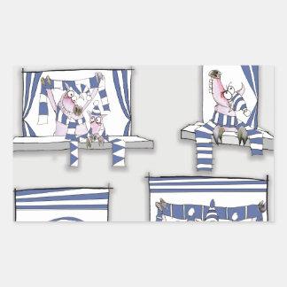 piggy matchday blues rectangular sticker