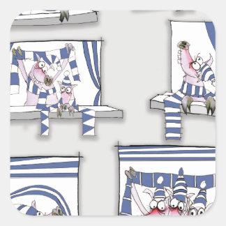 piggy matchday blues square sticker
